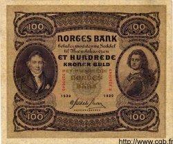 100 Kroner NORVÈGE  1939 P.10c TTB+