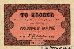 2 Kroner NORVÈGE  1918 P.14 SUP+