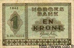 1 Krone NORVÈGE  1942 P.15a