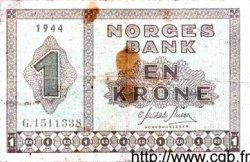 1 Krone NORVÈGE  1944 P.15a TB