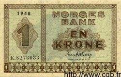 1 Krone NORVÈGE  1948 P.15b pr.SPL
