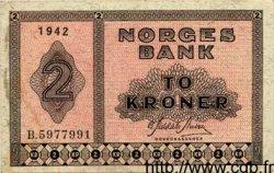 2 Kroner NORVÈGE  1942 P.16a TTB+