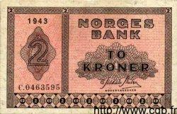 2 Kroner NORVÈGE  1943 P.16a TTB+