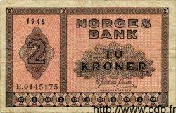 2 Kroner NORVÈGE  1945 P.16a pr.TTB
