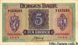 5 Kroner NORVÈGE  1944 P.19b SPL