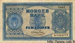 5 Kroner NORVÈGE  1944 P.25a