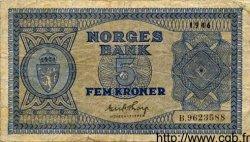 5 Kroner NORVÈGE  1946 P.25b
