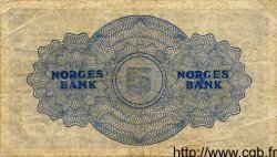 5 Kroner NORVÈGE  1946 P.25b TB