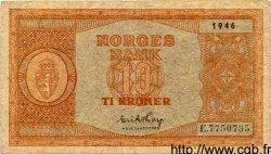 10 Kroner NORVÈGE  1946 P.26b pr.TTB