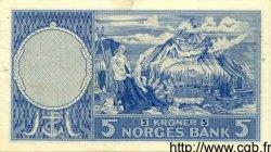 5 Kroner NORVÈGE  1961 P.30b TTB+
