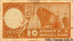 10 Kroner NORVÈGE  1954 P.31a