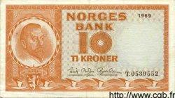 10 Kroner NORVÈGE  1969 P.31d TTB+
