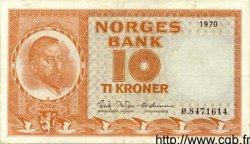 10 Kroner NORVÈGE  1970 P.31e TTB