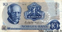 10 Kroner NORVÈGE  1975 P.36a TTB