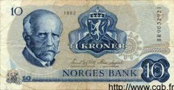 10 Kroner NORVÈGE  1982 P.36b TTB