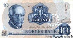 10 Kroner NORVÈGE  1983 P.36b SUP