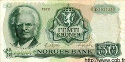 50 Kroner NORVÈGE  1972 P.37b TTB+