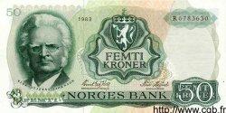 50 Kroner NORVÈGE  1983 P.37d