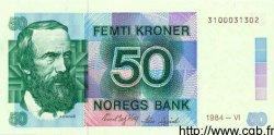 50 Kroner NORVÈGE  1984 P.42a NEUF