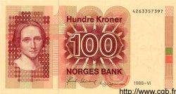 100 Kroner NORVÈGE  1988 P.43d pr.NEUF