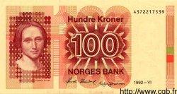 100 Kroner NORVÈGE  1992 P.43d
