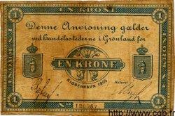 1 Krone GROENLAND  1905 P.05b pr.TB