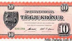 10 Kronur ÎLES FEROE  1954 P.14c NEUF