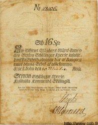 16 Schillingar Specie SUÈDE  1802 P.A095a TB+