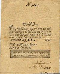 8 Schillingar Banco SUÈDE  1843 P.A100b TTB