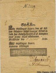 8 Schillingar Banco SUÈDE  1846 P.A100b TTB