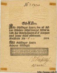 8 Schillingar Banco SUÈDE  1848 P.A100b TTB+