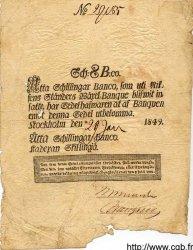 8 Schillingar Banco SUÈDE  1849 P.A100b TB