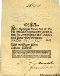 8 Schillingar Banco SUÈDE  1849 P.A100b TTB+