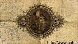 5 Kronor SUÈDE  1918 P.33a TB