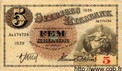 5 Kronor SUÈDE  1939 P.33l pr.TTB
