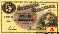 5 Kronor SUÈDE  1946 P.33m pr.NEUF