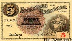 5 Kronor SUÈDE  1952 P.33q NEUF