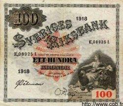 100 Kronor SUÈDE  1918 P.36a TTB