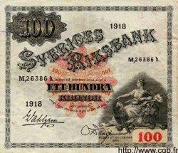 100 Kronor SUÈDE  1918 P.36a