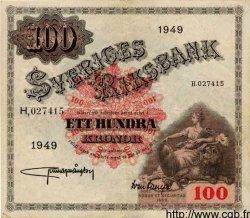 100 Kronor SUÈDE  1949 P.36r TTB