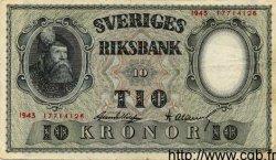 10 Kronor SUÈDE  1943 P.40c VF