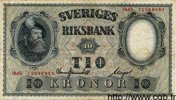 10 Kronor SUÈDE  1945 P.40d TTB