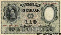 10 Kronor SUÈDE  1946 P.40e TTB