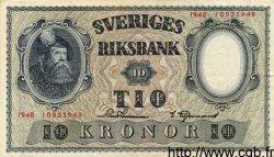 10 Kronor SUÈDE  1948 P.40g TTB+