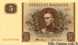 5 Kronor SUÈDE  1954 P.42a NEUF