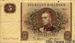 5 Kronor SUÈDE  1961 P.42b