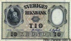 10 Kronor SUÈDE  1958 P.43f SPL