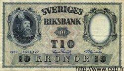 10 Kronor SUÈDE  1959 P.43g TTB