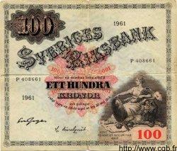 100 Kronor SUÈDE  1961 P.48a TB