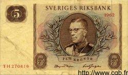 5 Kronor SUÈDE  1962 P.50a TB à TTB